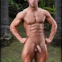 muscular big white cock