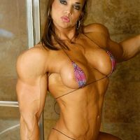 sexy muscled girl
