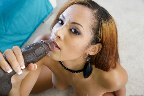 Bosomy black girl Serena Ali is in the raunchy fuck with the