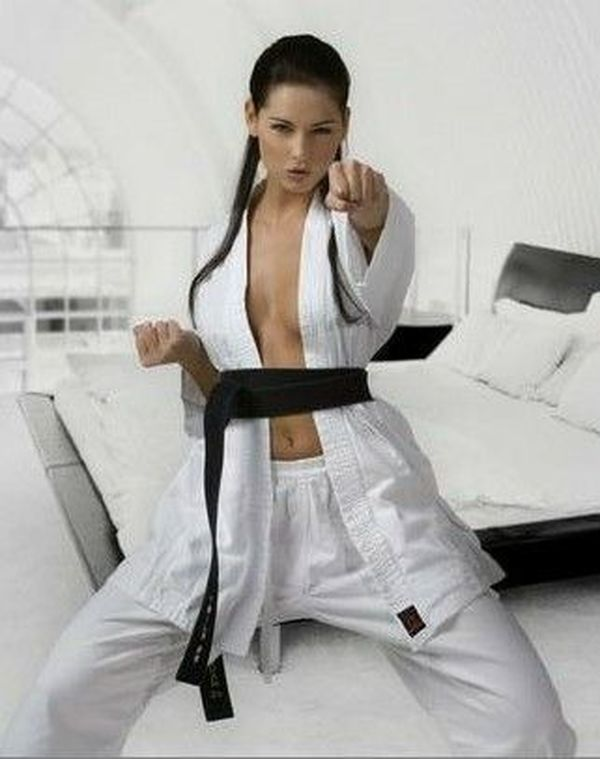 Sexy girls with martial arts skills