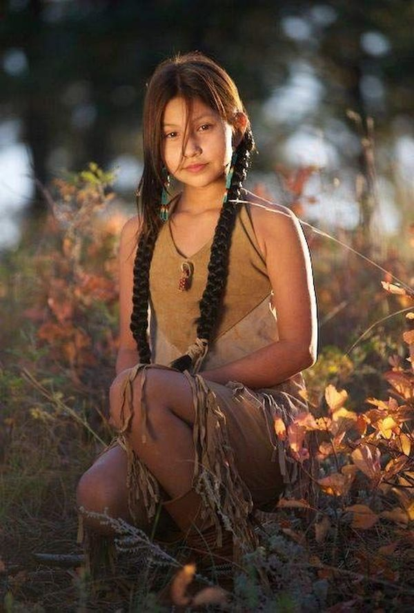 Hot native american indian girl naked
