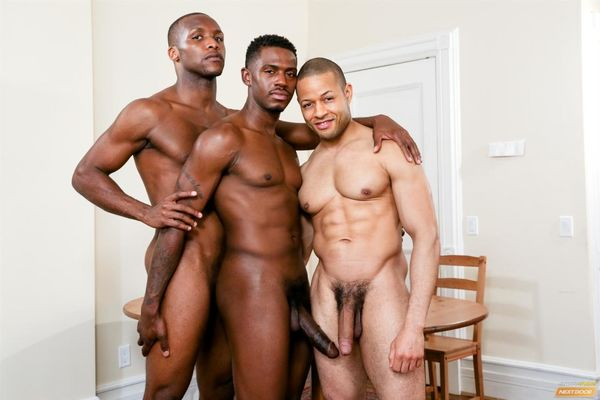 Three Black Guys Playing Strip Dominoes With Their Big Black