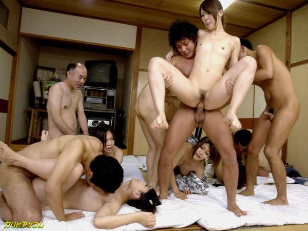 Asian Kotomi Asakura and twelve gangbang actress fucking - P