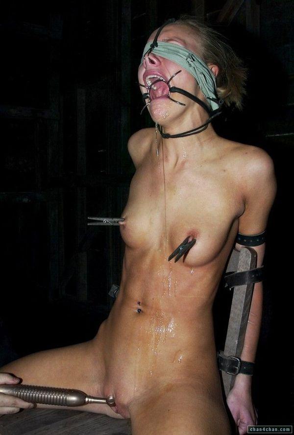 Forced Ring Gag Bondage Cum BDSM Fetish