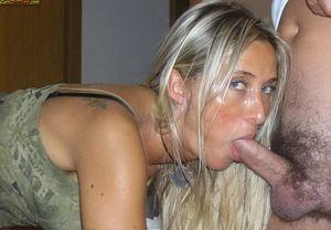 Amateur wife blowjob and cum pics -..