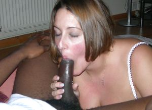 BBW Ex wife sucking black big cock...