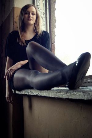 Women`s Legs and Feet in Tights:..