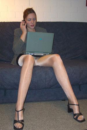 Amateurs Candid Pantyhose Stockings..