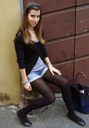 flat teen stockings pantyhose