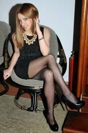 Sexy pantyhose girl Cute Женщина