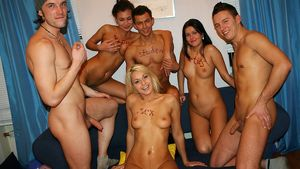 Raunchy group action at cool college..