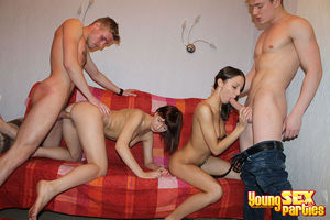 Handsome studs with huge dongs seduce..