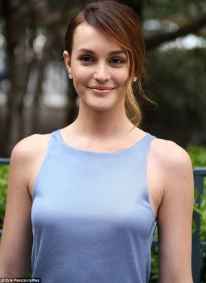 Leighton Meester shows off her..