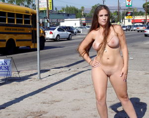 Amy Danille nude in public..