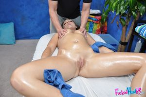 Teen gets horny after a massage and..