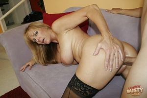 Nicole Moore in black stockings..
