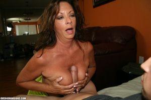 Middle aged woman Margo Sullivan tit..