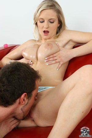 Busty blonde girl Darina gets her big..