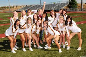 """sexy highschool cheerleaders """".."""