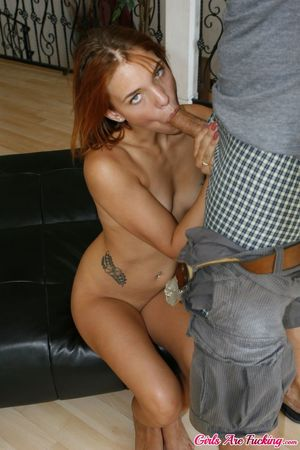 Beautiful redhead girlfriend surprises..