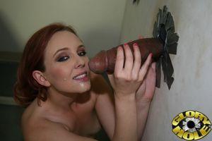 Redhead Miss Marie suckin black cocks..