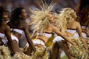 PHOTOS: Cheerleaders Root On The..