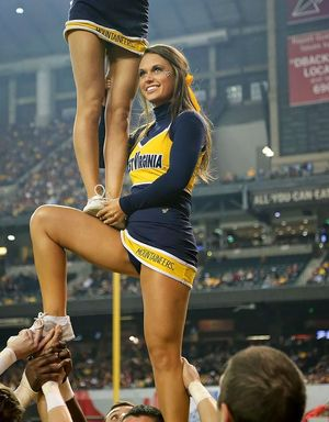 West Virginia Cheerleader nice..