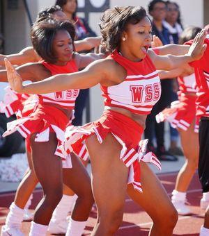 Winston Salem State Cheerleaders WSSU..