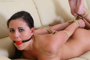 Bondage Hogtied Gagged Nude 16 -..