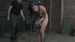 Black Haired Submissive Teen Gets..