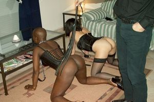 Two slaves tied and ready for use..