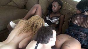 Slaves Licking Black Pussies - Femdom..
