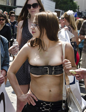 Nude Teen Pictures: Candids - braless..