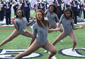 Black Cheerleaders in Pantyhose..