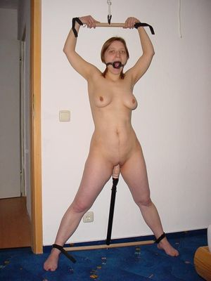 Spreader bar and dildo in for a day -..