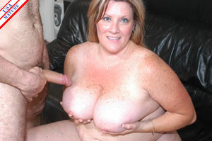 Horny american housewife at play with..