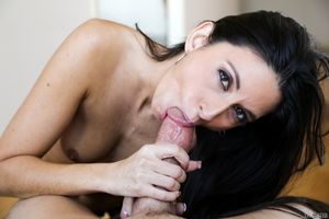 Dark haired female Nikki Daniels..