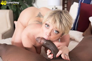 Dee Williams sucks and fucks big black..