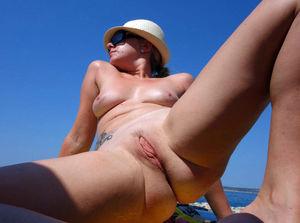 Butts in public beach
