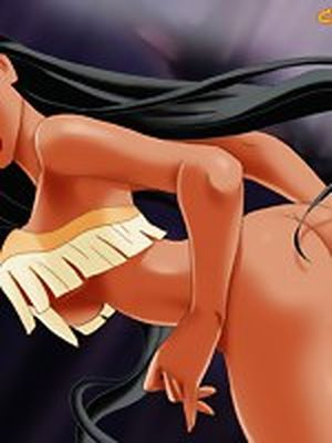 Sexy Pocahontas showing off her..