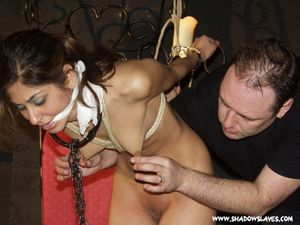 Indian slavegirl Sahara in bondage..