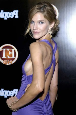Tricia Helfer showing her nice big..