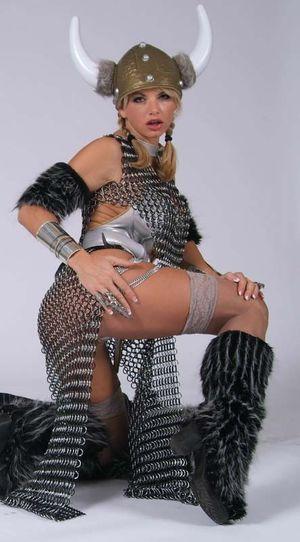 Blonde Busty Vicky Vette is a Viking..