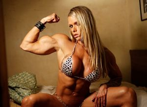 Ultra hot and sexy muscular blonde..