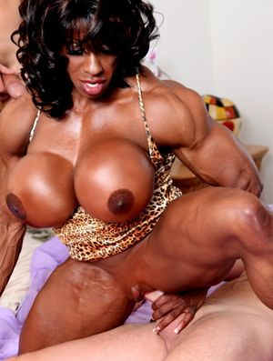 Huge muscular black Goddess ripped..