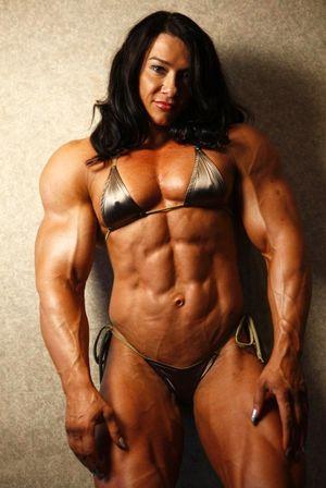 Massive muscular Goddess ripped strong..