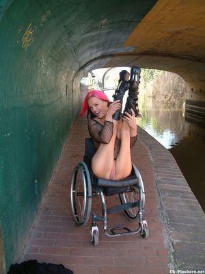 Wheelchair pornstar Leah Caprice..
