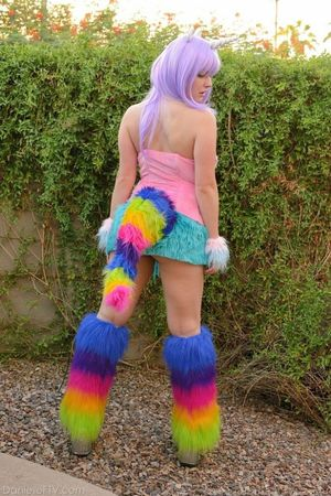Halloween cosplay as the furry and..