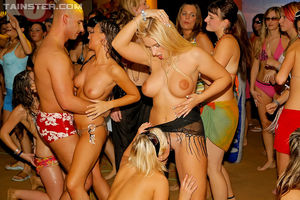 Horny party girls fucking all the guys..