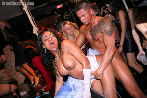 Orgy party at nightclub with beautiful..